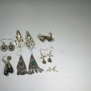 Vintage jewelry earrings lot some stamped